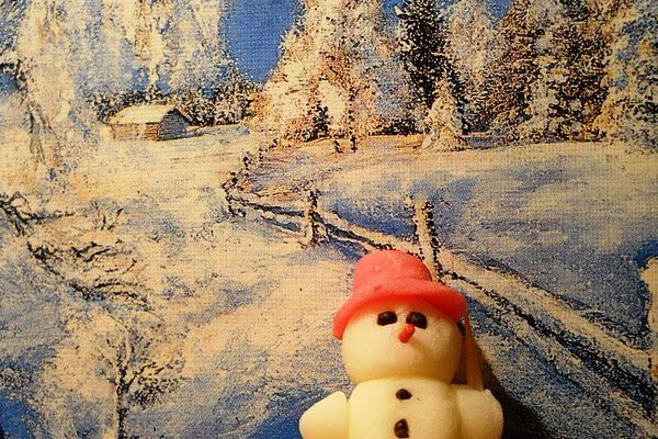 Boldog karácsonyt! – Fondant hóember