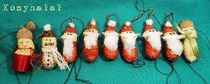 (Félig) gasztroajándék – földimogyoró-mikulás és társai karácsonyfadísz