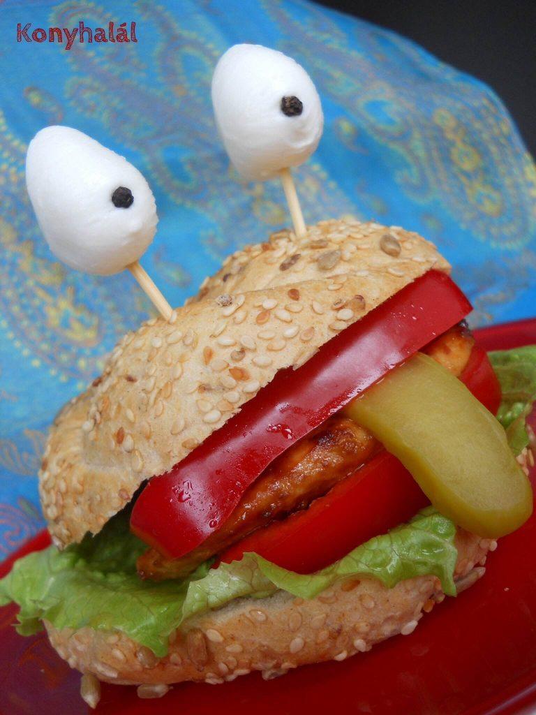 gyereknap burger monster otletek gyereknapra