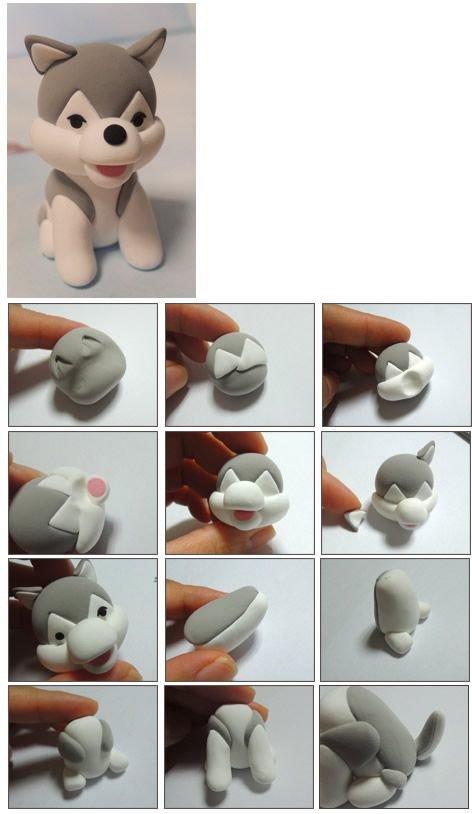 egyszeru allatfigurak formazasa kutya husky
