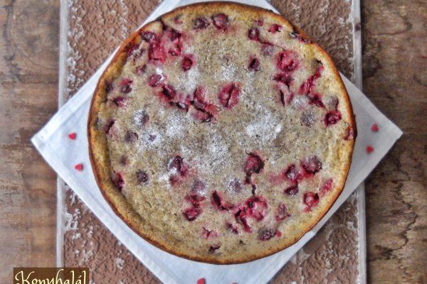 Meggyes-mákos clafoutis (tejespite)