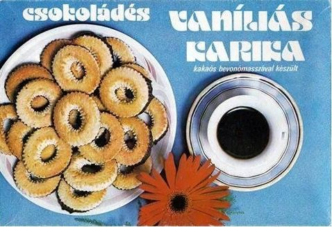 vanílias karika ezeket ettuk a 80-as evekben retro etel