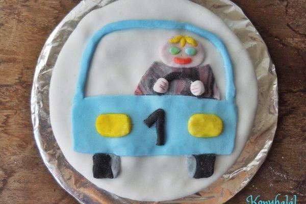 Egyszerű autós torta