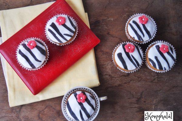 Csajos zebra muffin