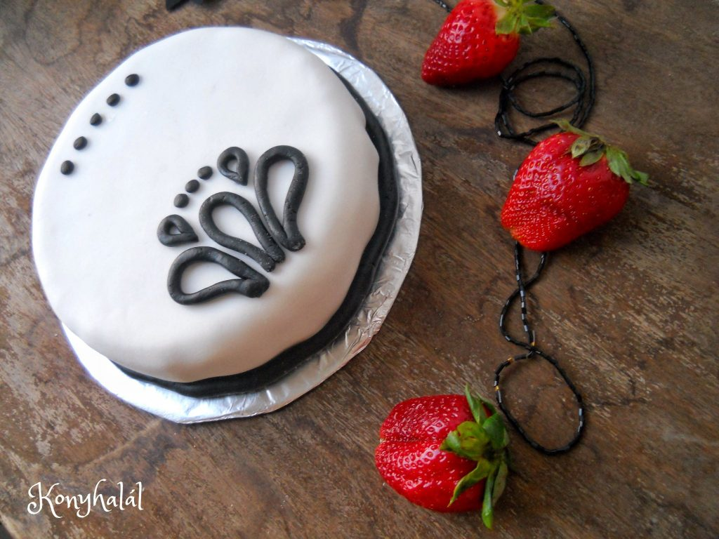 Fekete-feher torta gesztenyetorta