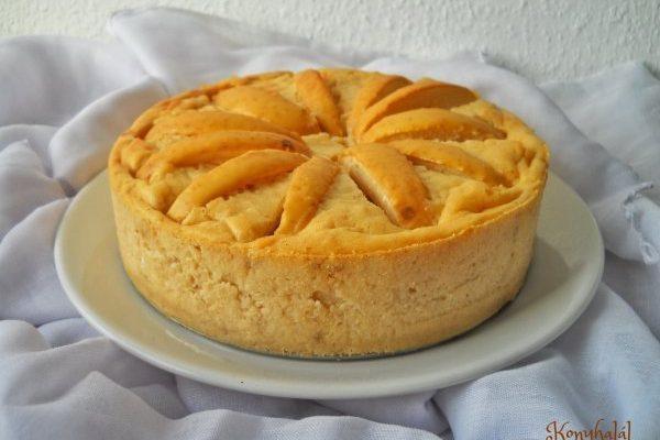 Őszi almás sajttorta