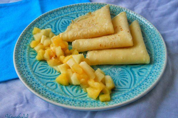 Palacsinta forró sült almával – a hűvösebb napok desszertje