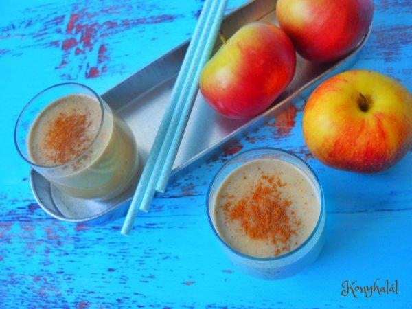 almás-diós smoothie
