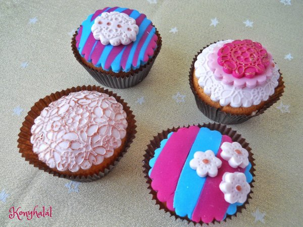 vaníliás cupcake