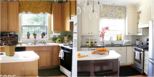 kitchen makeover before after