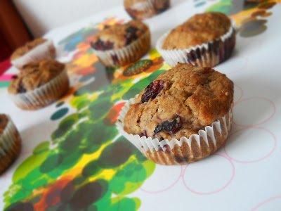 Gesztenyés-meggyes muffin