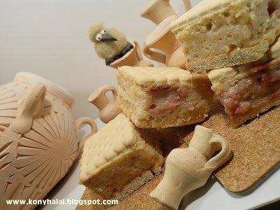 Gesztenyés-meggyes kekszes krémes