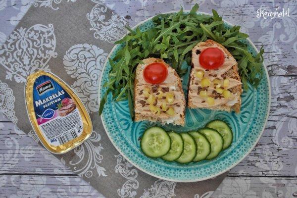 Tormás-makrélás szendvics