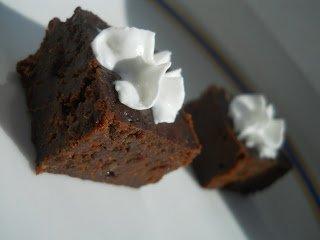 Gesztenyelisztes-nyírfacukros brownie