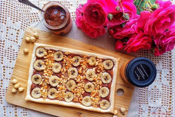 Mogyorókrémes-banános lepény