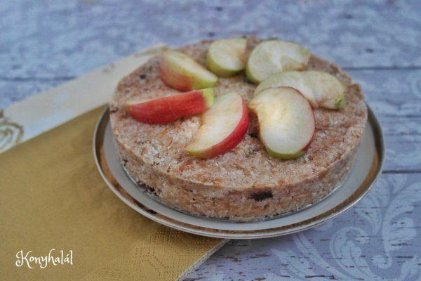 Paleo almatorta sütés nélkül