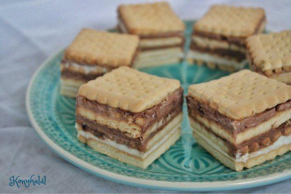 Tejfölös-kekszes süti – 10 perc alatt, sütés nélkül