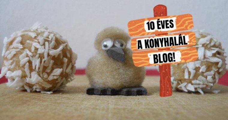 10 éves a Konyhalál blog!