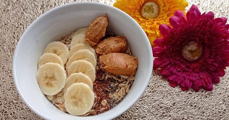 Mogyoróvajas-banános zabpehely