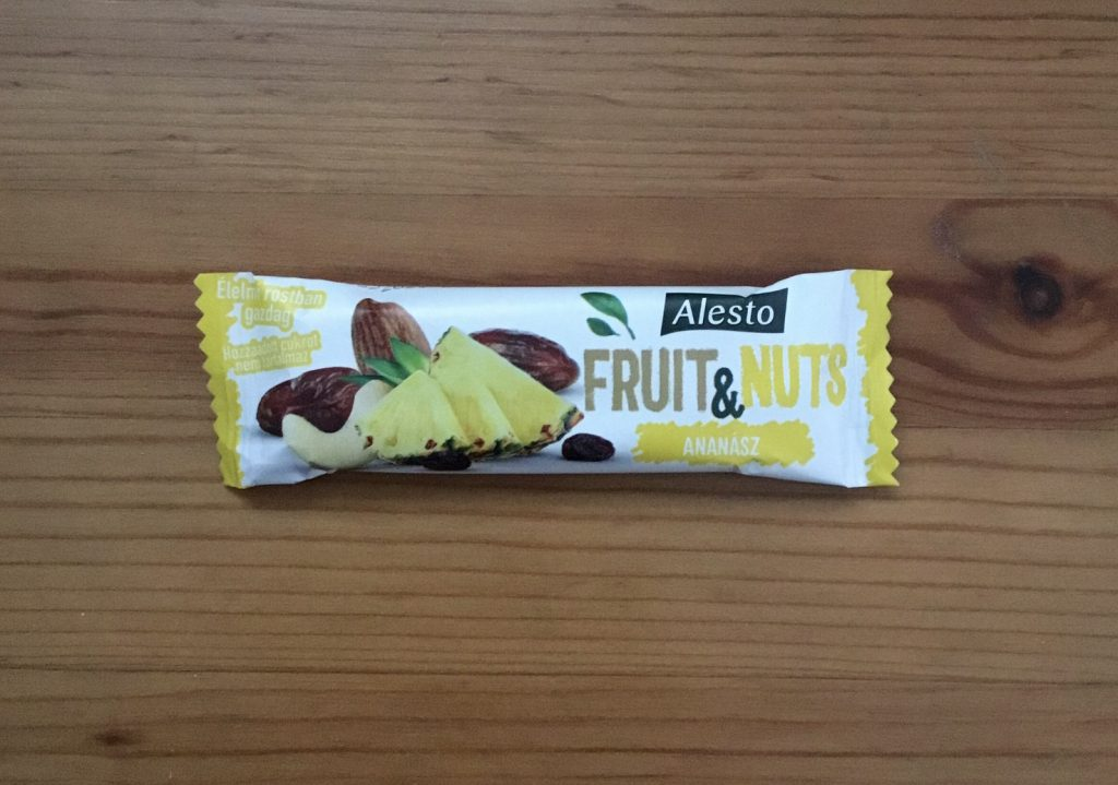 Olcso de jo elelmiszerek Lidl Alesto Fruit & Nuts ananaszos